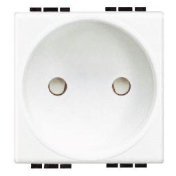 Prises -Prise Light - 2P - 10/16A - 250V - contacts protégés - 2 modules - CEBEC