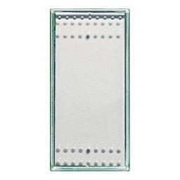 Plaques centrales -Touche interrupteur/poussoir Light Kristall - 1 module - éclairable - gris clai