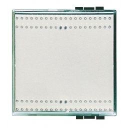 Plaques centrales -Touche interrupteur/poussoir Light Kristall - 2 modules- éclairable - gris clair