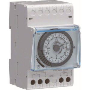Interrupteurs horaire & interrupteurs crépusculaire -Interrupteur horaire 24h - 1 voie - A/Rés - 3 M.