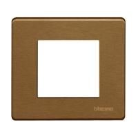 Plaques de recouvrement -Plaque de recouvrement Magic - 2 modules - pour support réf. 500S/2AV - Bronze
