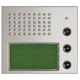 Plaques de recouvrement -Plaque frontale Sfera - micro/haut-parleur avec display alphanumérique - alu