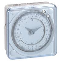Interrupteurs horaire & interrupteurs crépusculaire -Inter horaire - 24h. 1 sortie Analogique 230 V - en saillie