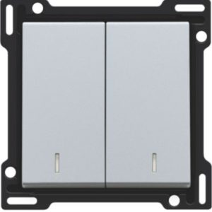 Plaques centrales -Manette double avec voyant pour bouton poussoir, sterling