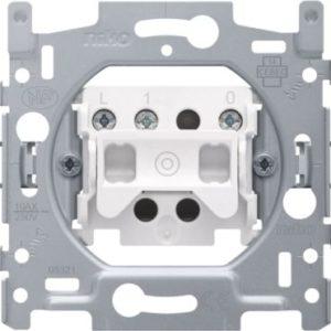 Interrupteurs et bouton-Socle bouton poussoir 10A 250V AC, NO, avec bornes de raccordement