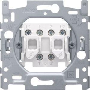 Interrupteurs et bouton-Socle interrupteur va-et-vient double 10A 250V AC