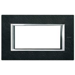 Plaques de recouvrement -Plaque rectangulaire Axolute - ardoise - 4 modules - 150x95 mm