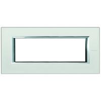 Plaques de recouvrement -Plaque rectangulaire Axolute - verre miroir dépoli - 6 modules - 195x95 mm