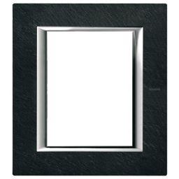 Plaques de recouvrement -Plaque rectangulaire Axolute - ardoise - 2x3 modules - 127x141,5 mm