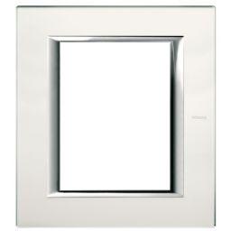 Plaques de recouvrement -Plaque rectangulaire Axolute - verre miroir dépoli - 2x3 modules - 127x141,5 mm