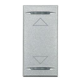 Plaques centrales -Touche My Home pour Axolute - symbole haut/bas - gris clair - 1 module