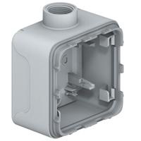 Boîtiers apparent -Plexo boitier 1 poste 1 entree m20 gris