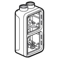 Boîtiers apparent -Plexo boitier vert. 2 pos 2 entrees m20 gris