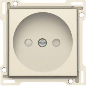 Plaques centrales -Enjoliveur simple pour prise de courant 2P, crème