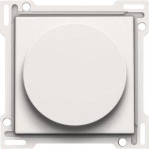 Plaques centrales -Manette up/down pour poussoir rotatif avec commande rotative 25A, blanc
