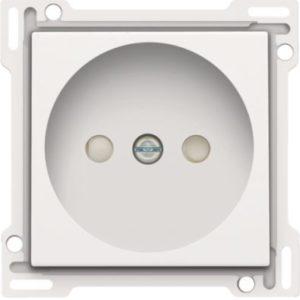 Plaques centrales -Enjoliveur simple pour prise de courant 2P, blanc
