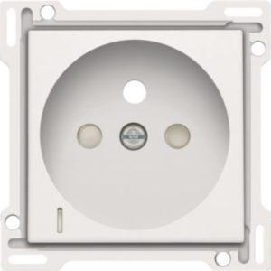 Plaques centrales -Enjoliveur pour prise de courant avec indication de tension, blanc