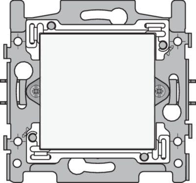 Plaques centrales -Enjoliveur pour cache-trou, blanc