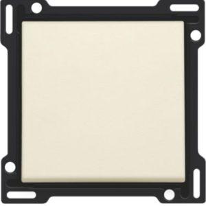 Plaques centrales -Set de finition pour variateur à bouton-poussoir -crème