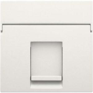 Plaques centrales -Enjoliveur 1x RJ11 UTP plate, avec porte-étiquette, blanc