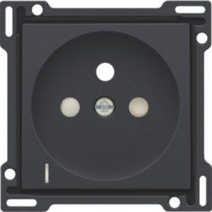 Plaques centrales -Enjoliveur pour prise de courant avec indication de tension, anthracite