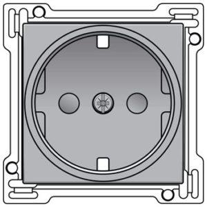 Prises -Enjoliveur pour prise de courant avec terre latérale et sécurité, sterling