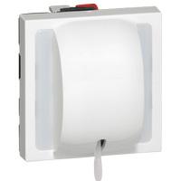 Interrupteurs et bouton-Mosaic poussoir à tirage 6A 250V 2 mod. Blanc