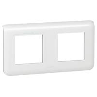 Plaques de recouvrement -Mosaic plaque hor. 2x2 mod. entraxe 71mm blanc