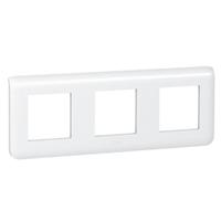 Plaques de recouvrement -Mosaic plaque hor. 3x2 mod. entraxe 71mm blanc