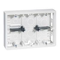 Boîtiers apparent -Mosaic cadre saillie rectang. 2x6, 2x8 ou 2x3x2 mod. pr.50mm
