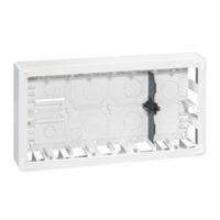Boîtiers apparent -Mosaic cadre saillie rectang. 2x10 mod. prof. 50mm