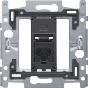Plaques centrales -Support avec 1x RJ45 UTP cat.5E, plate