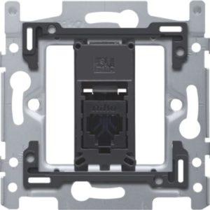 Plaques centrales -Support avec 1x RJ45 UTP cat.6, plate, pour fixation à vis