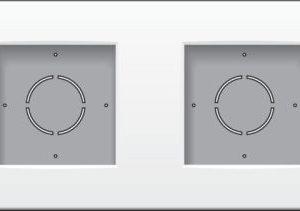 Boîtiers apparent -Boîte en saillie 2x G06 haut, blanc