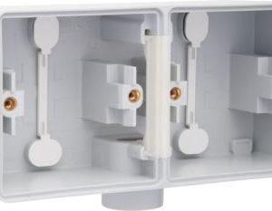 Boîtiers apparent -New Hydro boîtier en saillie horizontal pour 2 fonctions avec 1 entrée M20