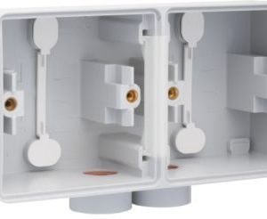 Boîtiers apparent -New Hydro boîtier en saillie horizontal pour 2 fonctions avec 1x2 entrées M20