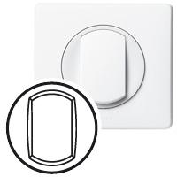 Plaques centrales -Cél doigt interrupteur blanc
