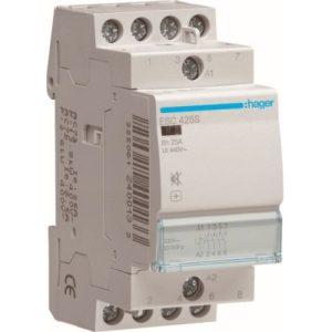 Contacteurs modulaires -Contacteur silencieux - 4x25A - 230V/220VDC - 4NO
