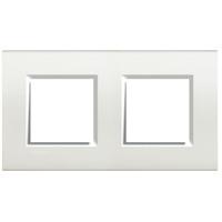Plaques de recouvrement -LivingLight - Plaque rectangulaire 2x2 modules 71mm blanc
