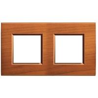 Plaques de recouvrement -LivingLight - Plaque rectangulaire 2x2 modules cerisier américain