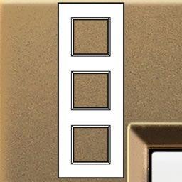 Plaques de recouvrement -LivingLight - Plaque rectangulaire 3x2 modules 71mm bronze