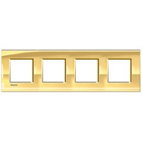 Plaques de recouvrement -LivingLight - Plaque rectangulaire 4x2 modules 71mm or