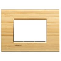Plaques de recouvrement -LivingLight - Plaque rectangulaire 3 modules bambou