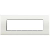 Plaques de recouvrement -LivingLight - Plaque rectangulaire 7 modules blanc