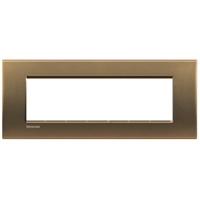 Plaques de recouvrement -LivingLight - Plaque rectangulaire 7 modules bronze