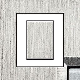 Plaques de recouvrement -LivingLight - Plaque rectangulaire 3+3 modules acier brossé