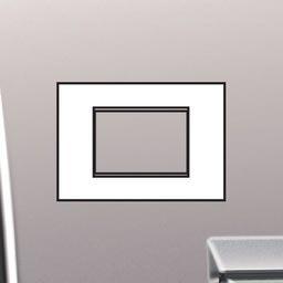 Plaques de recouvrement -LivingLight - Plaque Air 3 modules nickel mat