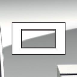 Plaques de recouvrement -LivingLight - Plaque Air 4 modules palladium