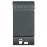 Plaques centrales -LivingLight - Touche nettoyage 1 module anthracite