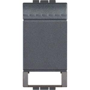 Plaques centrales -LivingLight - Touche éclairage 1 fonction 1 module anthracite